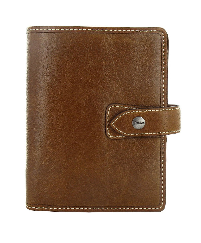 Filofax 2016 Leather Malden Ochre Pocket Organizer Agenda Calendar Diary with DiLoro Jot Pad refill 025842