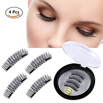 4f51ce91b72 Double Magnet False Eyelashes , Magnetic Eyelashes , 3D Natural Reusable  Eyelashes Extension , Natural Look