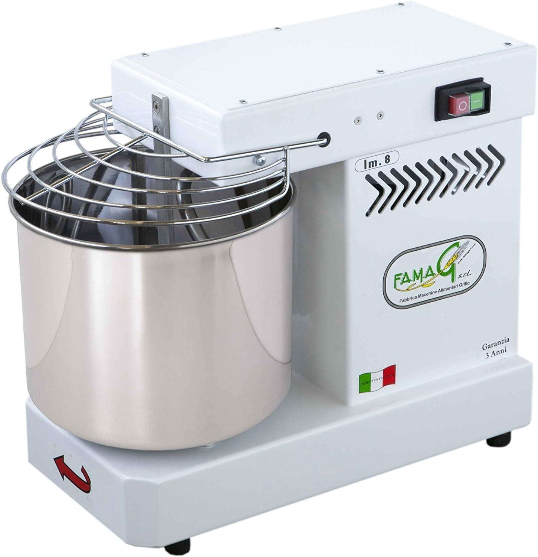 Famag - Amasadora de espiral de 8 kg para pan y pizza, máquina de ...