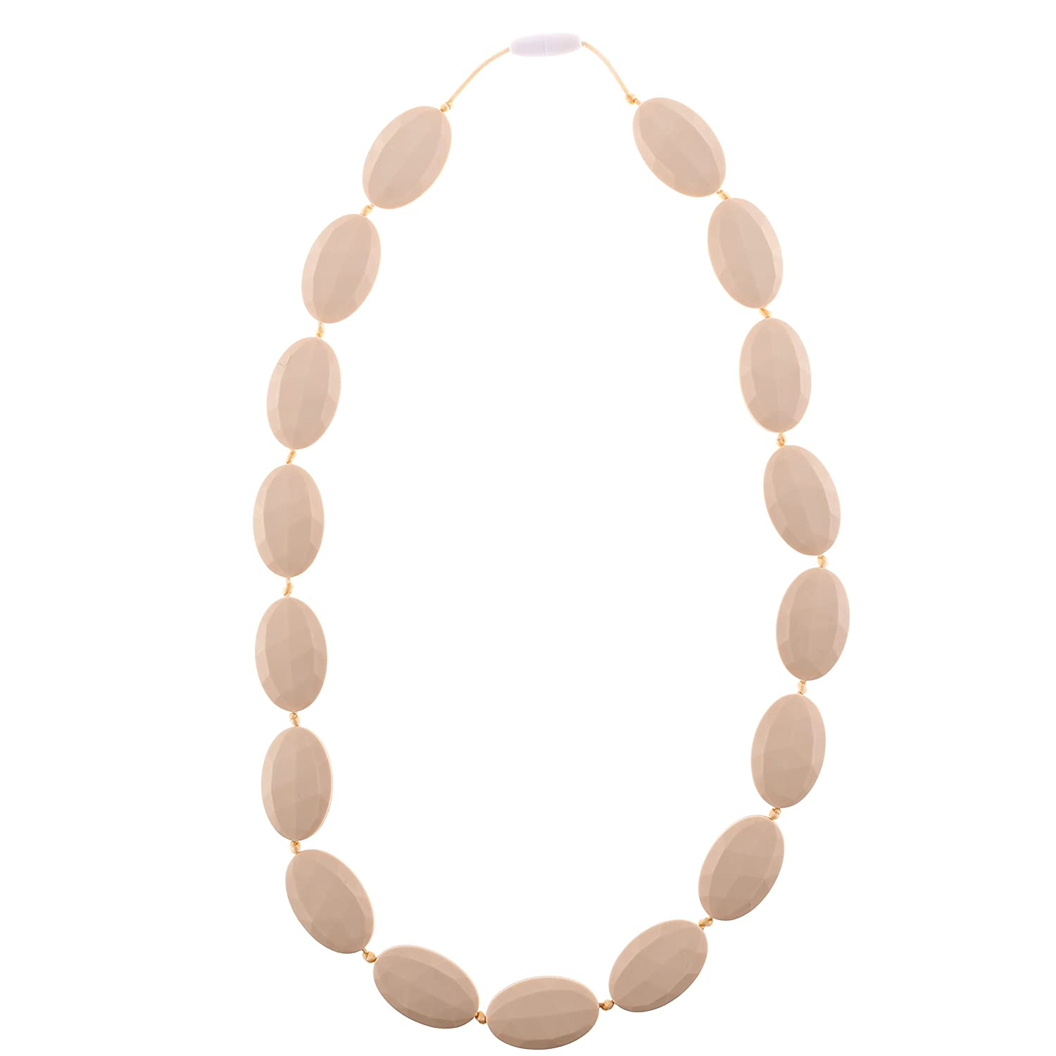Chew-Choos - 'Pat-a-Cake' Silicone Teething Necklace - Modern Chic Baby Teether (Navajo White) by Chew-Choos   B00TKTVT4S