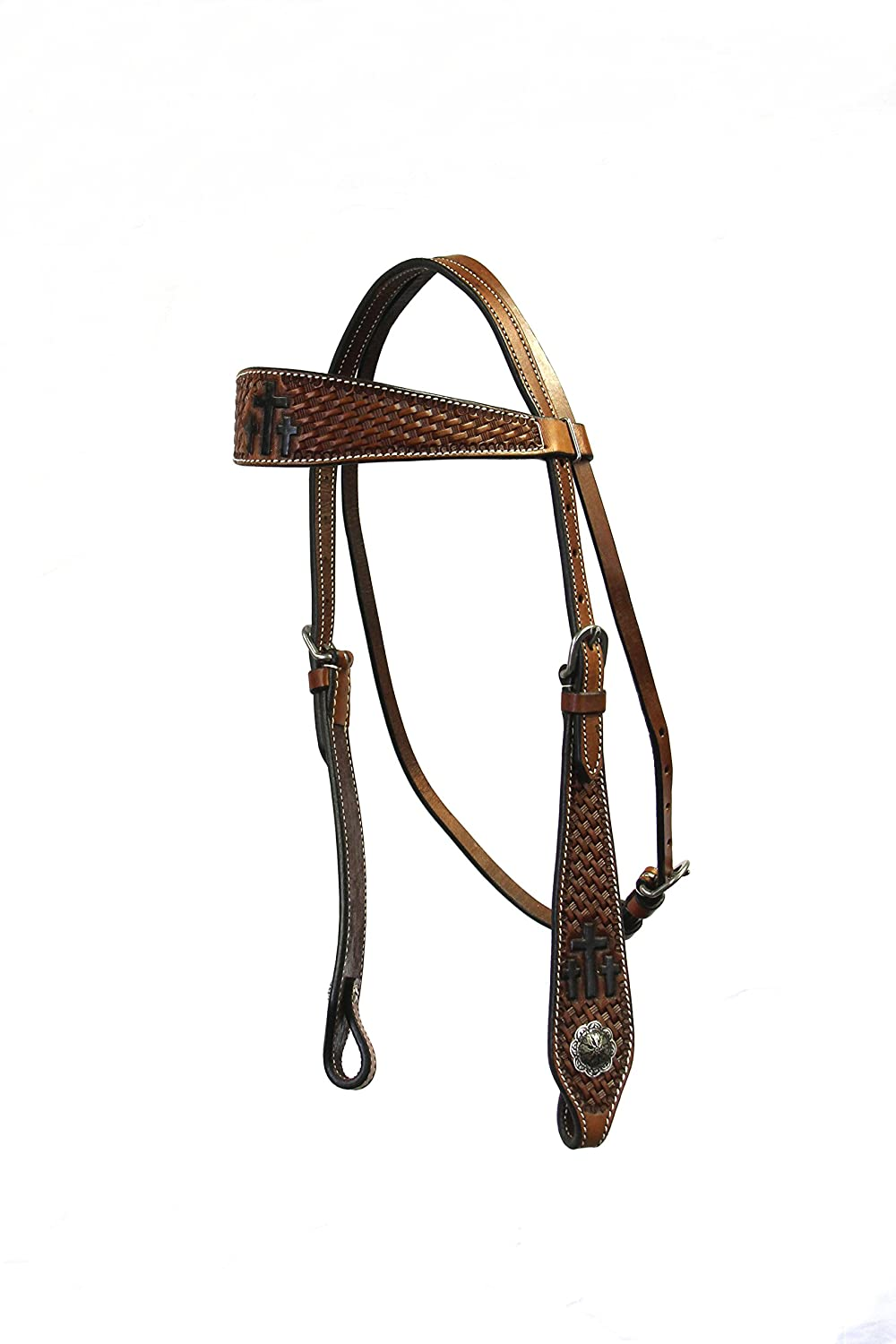 colorado Saddlery 5-5103dk Trinity Cross Headstall 5-5103dk, Not Applicable