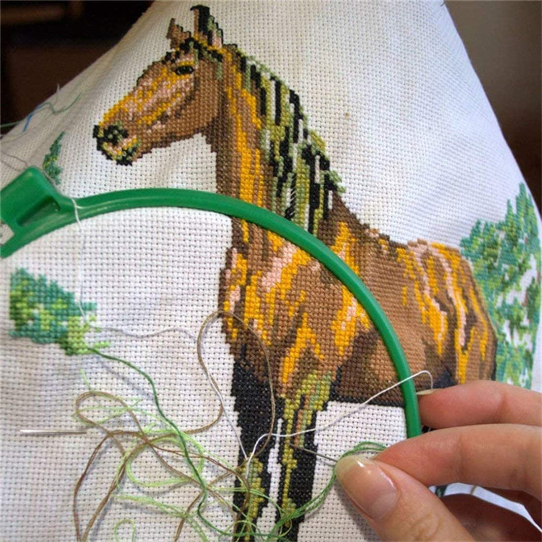 DIY Craft FineInno 6 Pieces Aida Cloth 14 Count Cross-Stitch Fabric White Needlework Fabric for Embroidery 18X12 inch 45 X 30 cm