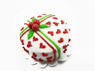Dollhouse Miniature 1 Cake 2 cm Christmas Seasonal Dollhouse Food Supply 14925
