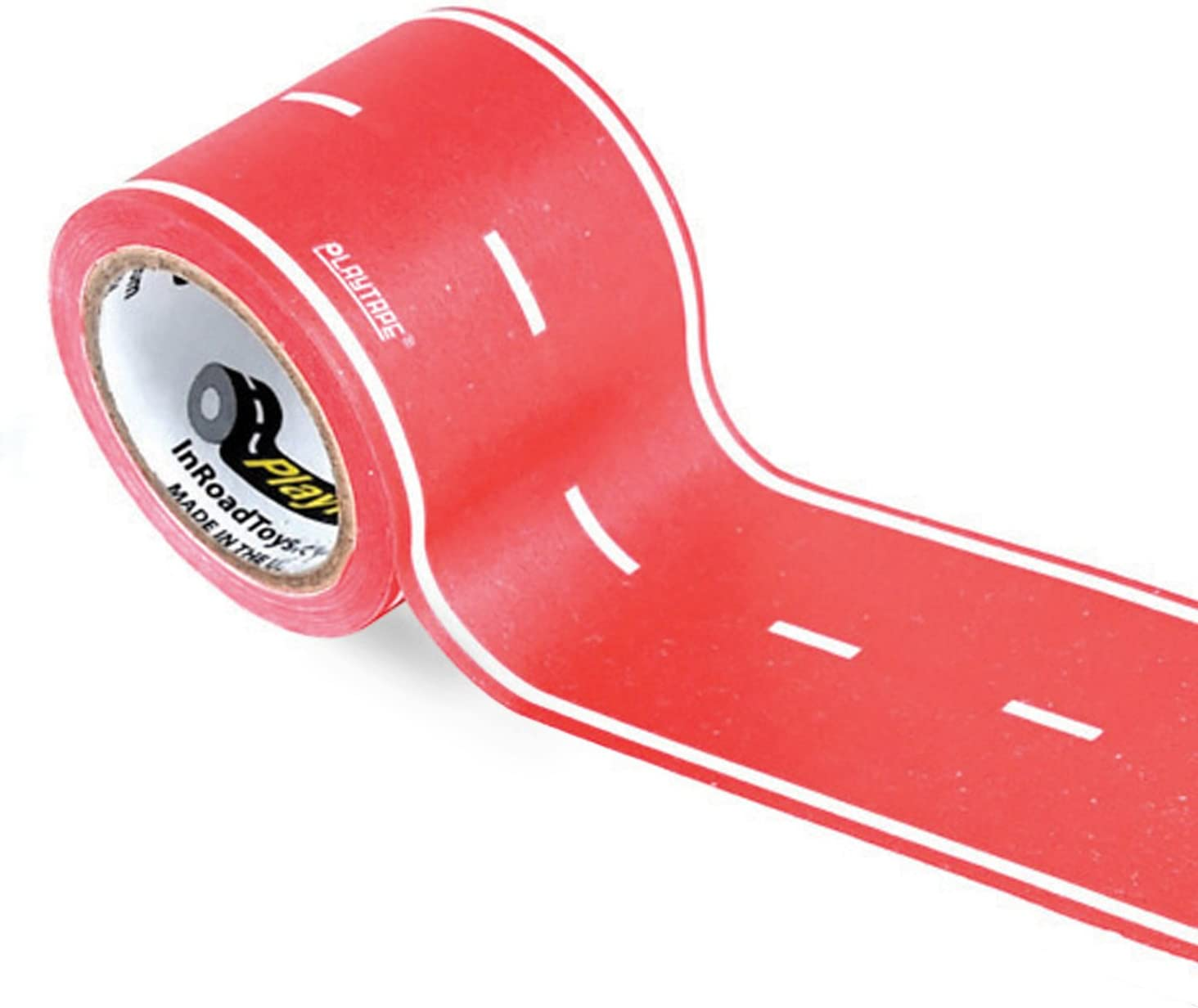 Toy Car Amersumer 4 Rolls Road Tape 66 Ft Black Toy Road Track Sticker Rolls Boat 4 Packs Traffic Sign Stickers Truck Stickers Toy Railroad Tape Play Vehicle Supplies and Toy Birthday Gifts