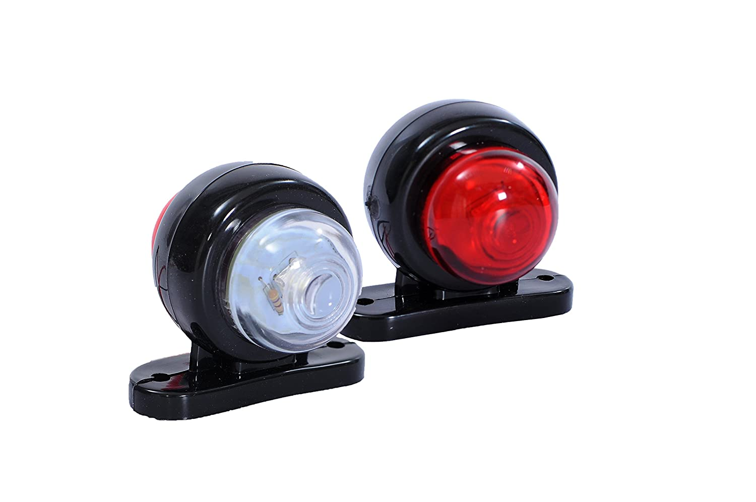 2 x LED SMD MINI SIDE RUBBER MARKER LIGHTS LAMP INDICATOR TRAILER TRUCK 12V