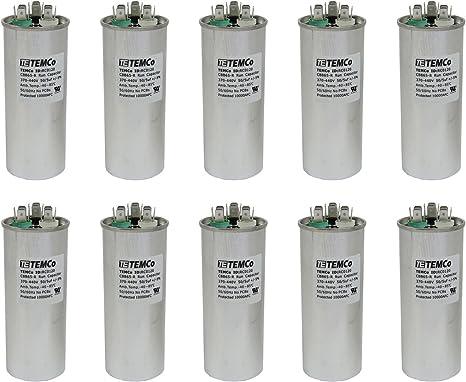Lot-1 5 uf//MFD 370-440 VAC volts Oval Run Capacitor 50//60 Hz