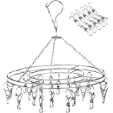 Amagoing Hanging Drying Rack Laundry Drip Hanger with 20 Clips and 10 Replacement