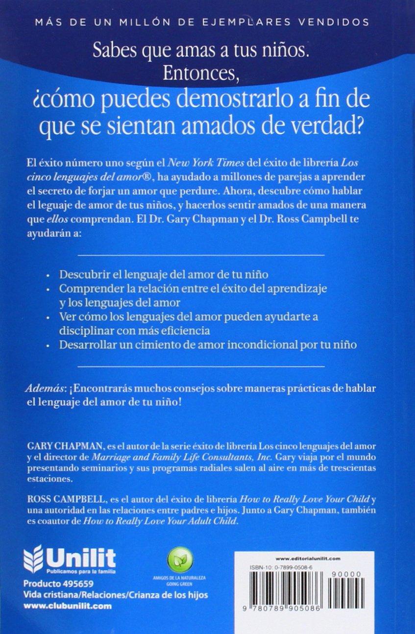 Los 5 lenguajes del amor de los ninos amazon es gary d chapman ross campbell libros