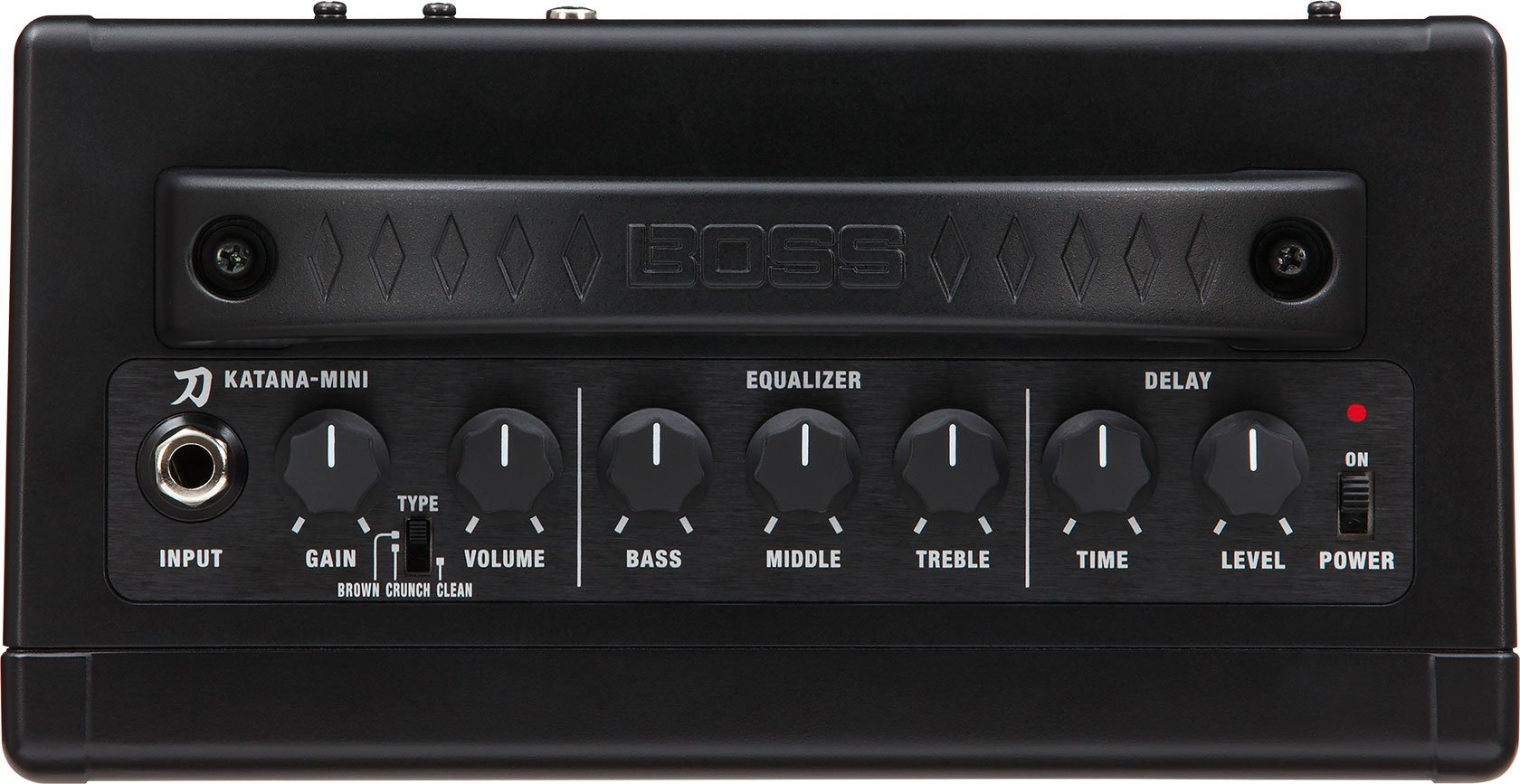 BOSS Katana Mini Guitar Amplifier Bundle with Hosa 5-FT Straight Instrument Cable (1/4in), Blucoil Slim 9V Power Supply AC Adapter, 2-Pack of Pedal Patch Cables and 4-Pack of Celluloid Guitar Picks by blucoil (Image #4)