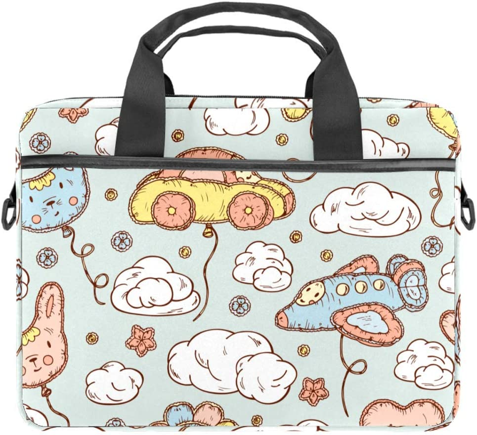 Clouds Laptop and Tablet Bag up to 14.5 Inch Waterproof Fabric Shoulder Bag MacBook