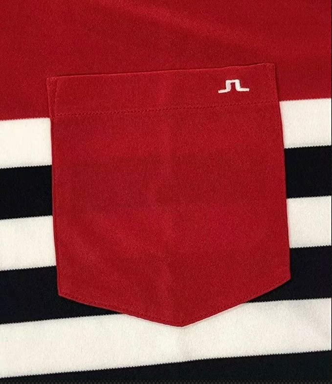 J. Lindeberg Hombres Carl Slim TX Jersey Golf Polo, Rojo (Red ...