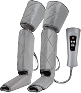 RENPHO Leg Massager, Air Compression for Circulation Calf Feet Thigh Massage, Sequential Boots Device with Handheld Controller 6 Modes 4 Intensities, Helps Swelling and Edema Pains