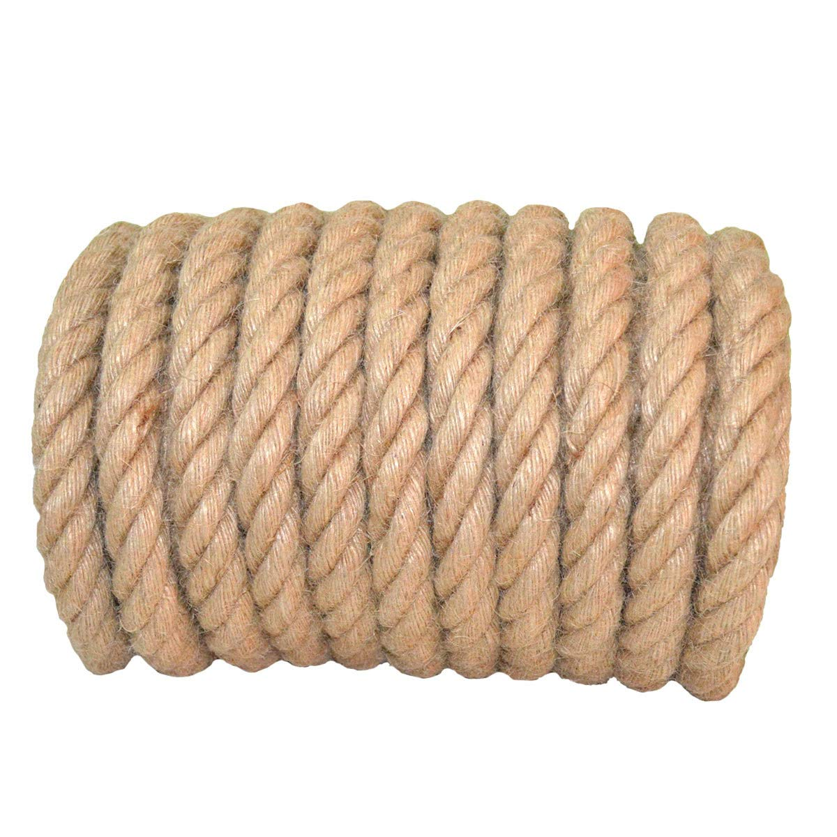 Tree Hanging Swing YuzeNet Climbing 100/% Natural Strong Twisted Manila Rope Jute Rope 1 in x 100 ft Landscaping Nautical Thick Hemp Rope for Crafts
