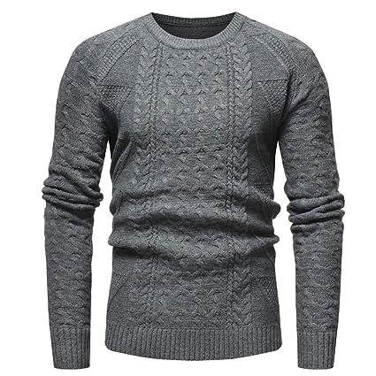 842e96cbd8 Top da uomo in jersey casual da uomo Maglione lavorato a maglia ...