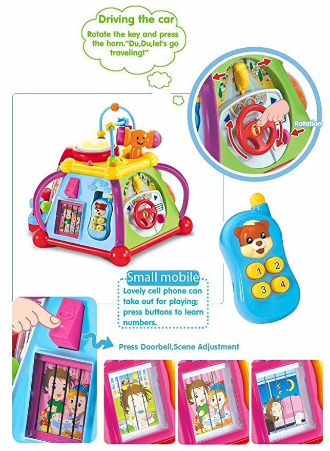 Toyshine Multifunctional Learning Play Center with Drum, Phone Learning Musical Toys