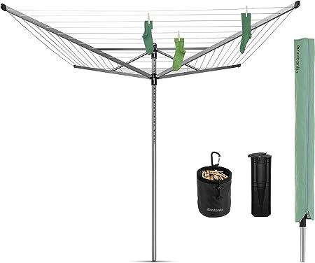 Brabantia Lift-O-Matic Advance Tendedero de Jardín y Accesorios, Acero Inoxidable, Gris Metalizado, 60 m de Cuerda: Amazon.es: Hogar