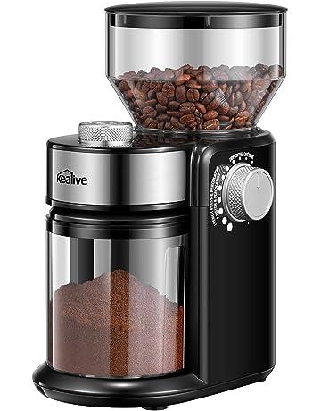Kealive Molinillo de Cafe, Molinillo de Cafe Eléctrico con Sistema de Molienda de Un Solo