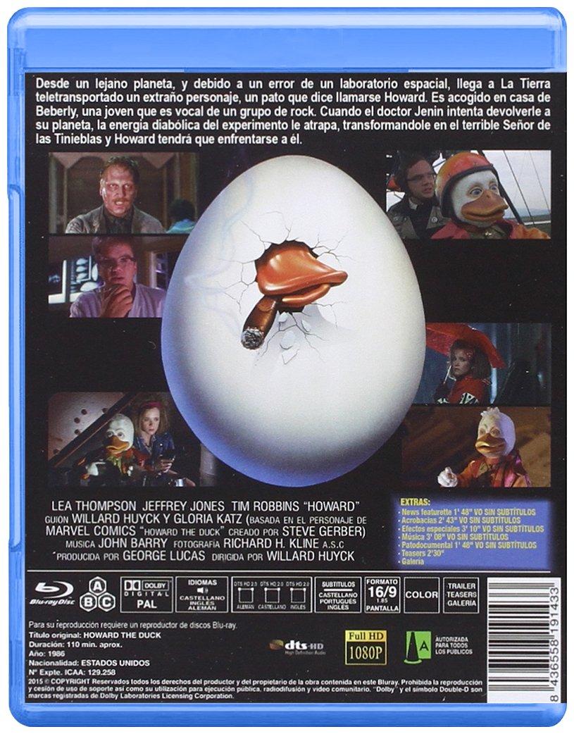 Howard: Un Nuevo Héroe BD 1986 Howard the Duck Blu-ray ...