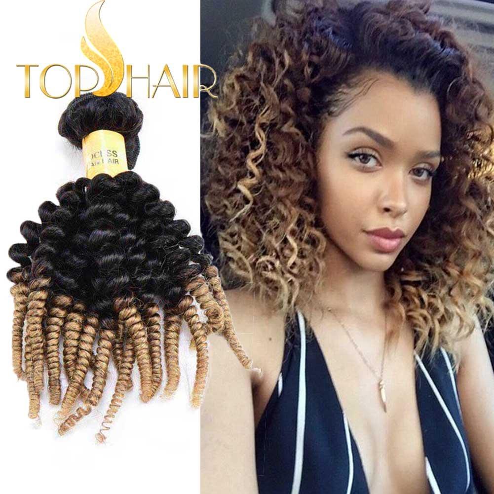 Amazon Top Hair 100gbundle 10 Ombre Brazilian Curly Human