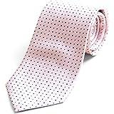 (ピエールタラモン) Pierre Talamon 日本製 西陣織 メンズ ビジネス ジャガード織 シルク 100% ネクタイ 8cm ストライプ チェック 小紋 柄 タイプD