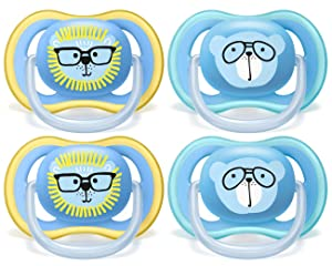 Philips AVENT Ultra Air Pacifier 18+ Months, SCF349/44, Blue, (Pack of 4)