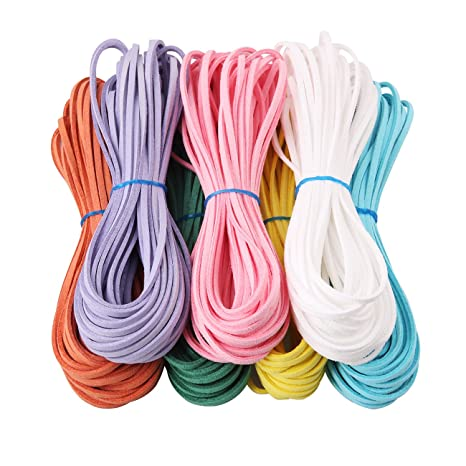 ae99a555fb49 Candygirl 7 Piezas 3 mm de Cordón de Ante Falso 7 colores Cuerda de Cuero  para