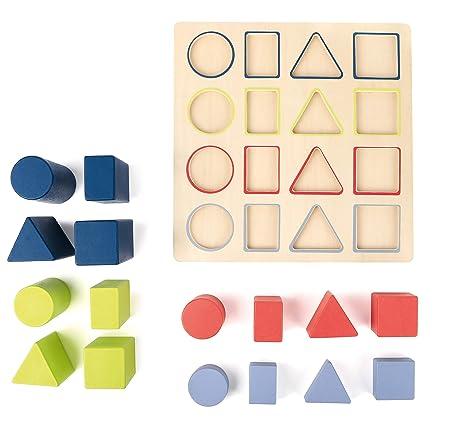 Steckspiele Steckpuzzle Geometrie Educate Spiel Deutsch 2018 Holzspielzeug
