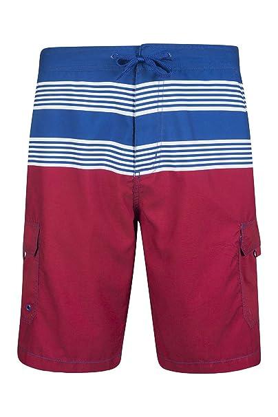 Mountain Warehouse Pantalón Corto para Actividades acuáticas a Rayas Ocean para Hombre Azul Marino X-