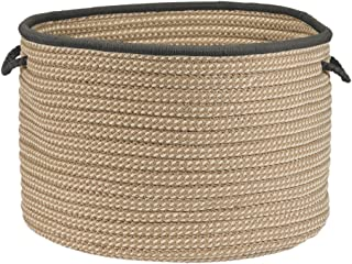 """product image for Colonial Mills Boat House BT29A018X018 Utility Basket, 18"""" x 18"""" x 12"""", Gray"""