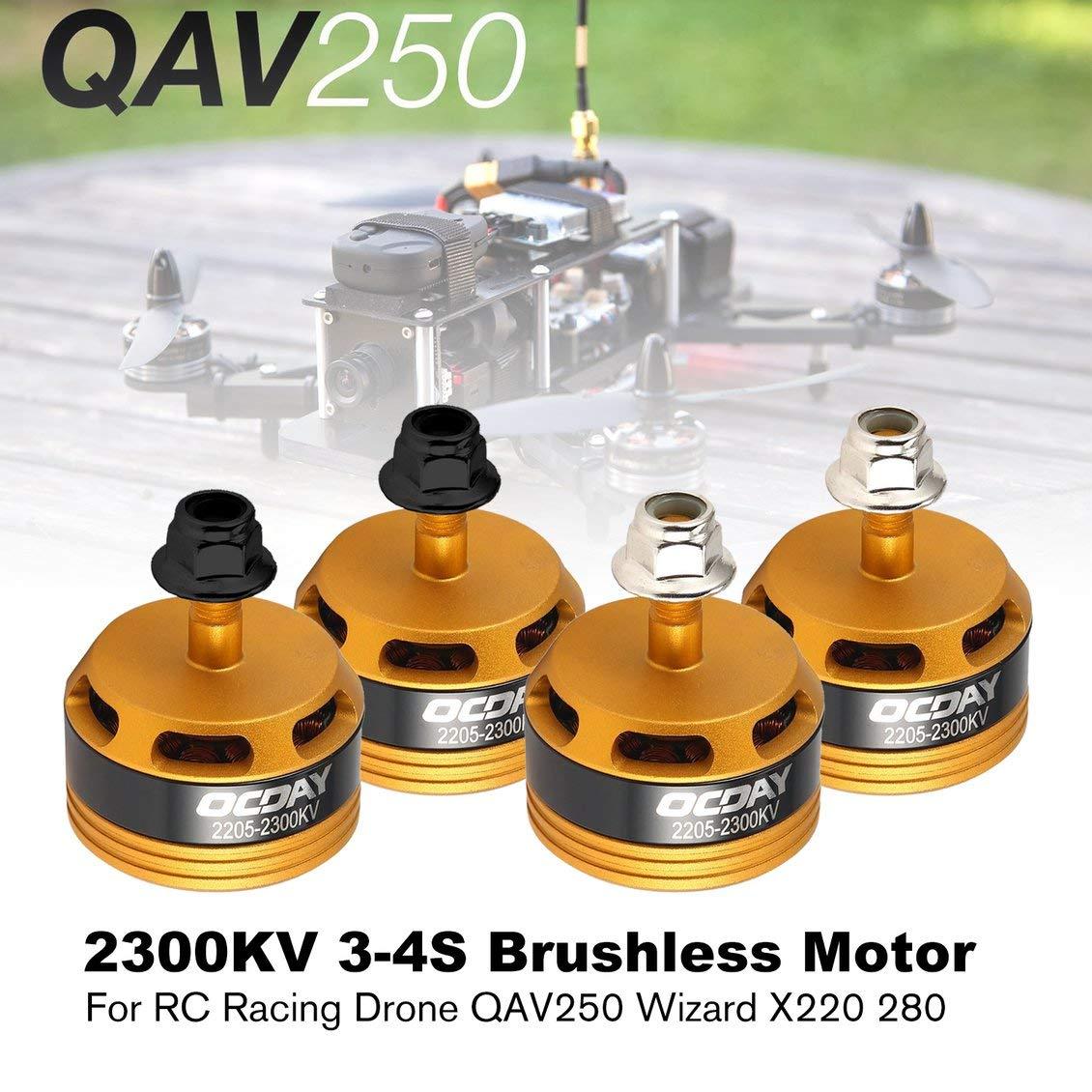 fghdfdhfdgjhh 2205 2300KV 3-4S CW/CCW Motor sin escobillas para ...