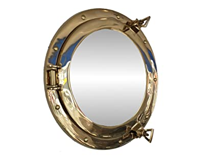 decor pin mirror want silver home leaf tropical porthole resin to nautical finish