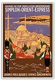 Simplon Orient Express - Londres-Constantinople - Paris-Lyon-Méditerranée (PLM) - Affiche ancienne vintage poster de voyage en train chemin de fer de Roger Broders c.1922 - Reproduction Professionelle d'art Master Art Print - 33cm in x 48cm