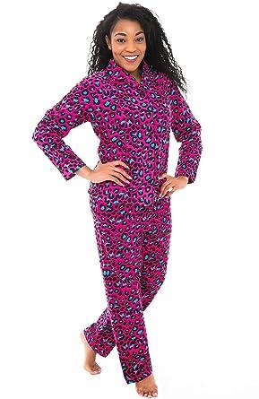 Alexander Del Rossa Womens Animal Print Flannel Pajamas fbee4dedf