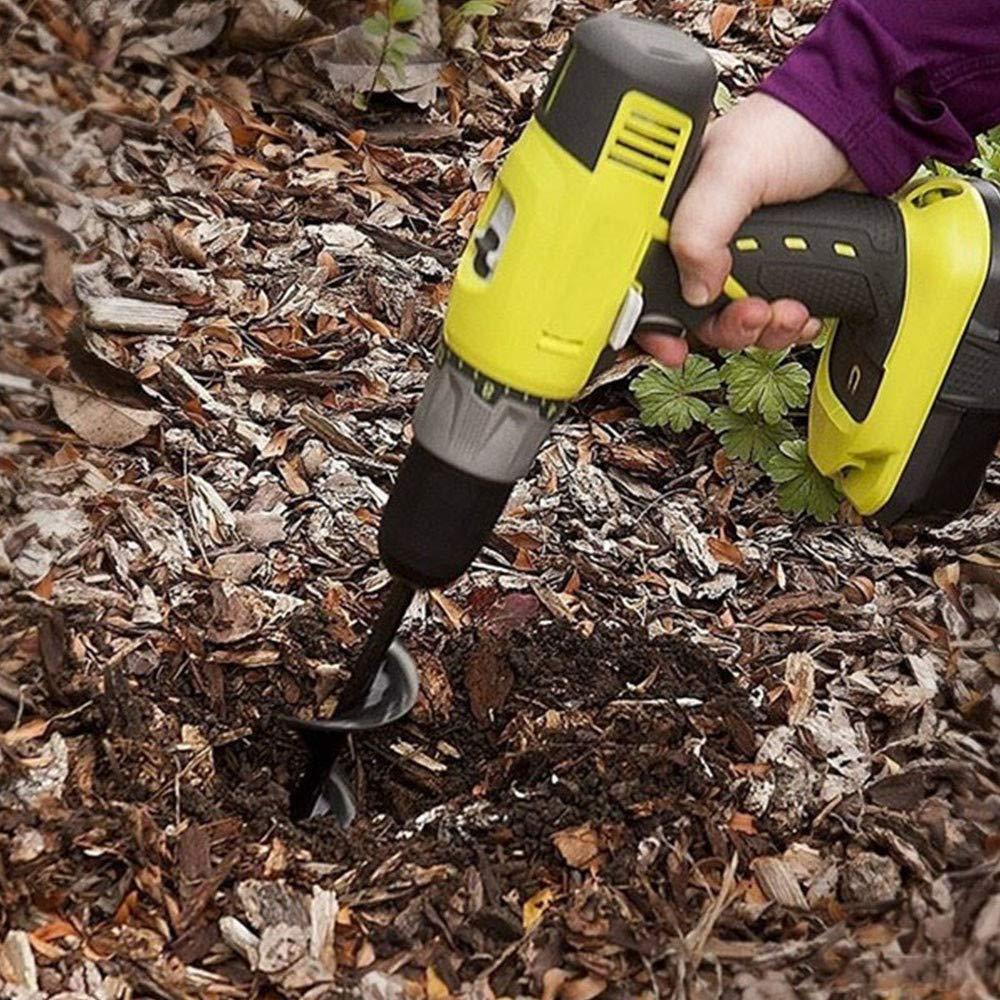 4cm * 22cm 45cm Planter Planting Flowers Spiral Drill Bit Electric Digging Bit Attachment Bulb Plant Post Bedding 22cm