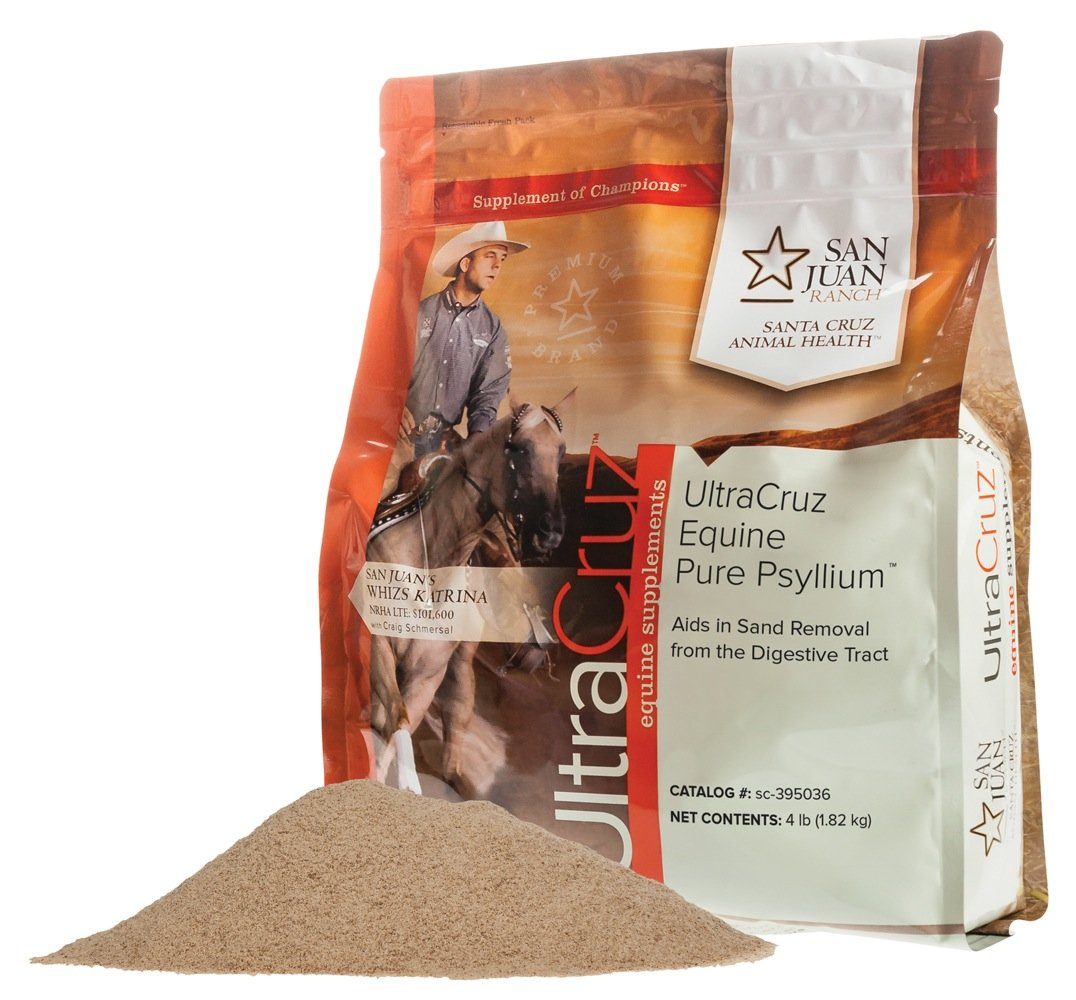 UltraCruz Equine Pure Psyllium Supplement for Horses, 4 lb (18 Day Supply) by UltraCruz