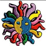 Beau Soleil Patch ''7,5 x 8,3 cm'' - Écusson brodé Ecussons Imprimés Ecussons Thermocollants Broderie Sur Vetement Ecusson