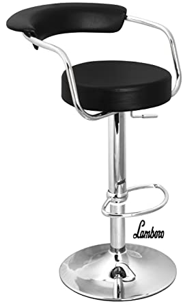 Awesome Black Chrome Swivel Bar Kitchen Breakfast Stools Chair By Lavin Lifestyle Creativecarmelina Interior Chair Design Creativecarmelinacom