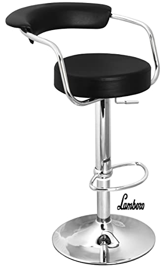 black u0026 chrome swivel bar kitchen breakfast stools chair 060