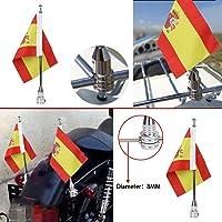 """Bandera de motocicleta poste y 6 """"X9"""" Bandera"""