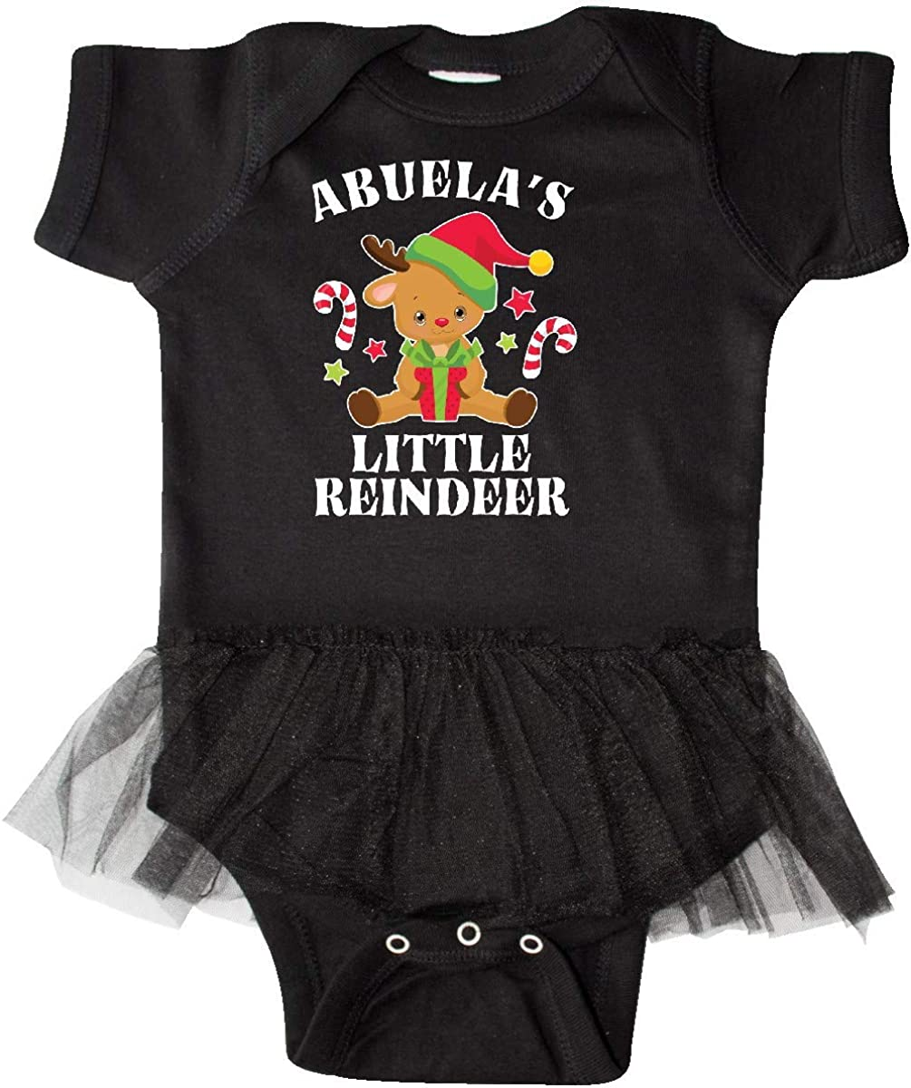 inktastic Christmas Abuelas Little Reindeer with Candy Infant Tutu Bodysuit