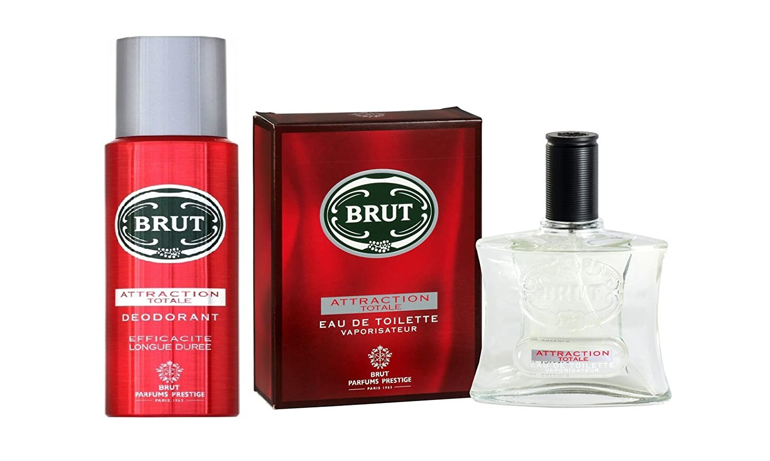 Buy Brut Attraction Totale Deodorant 200ml Parfums 100ml Pack Of