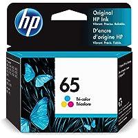 HP 65   Ink Cartridge   Works with HP Deskjet 2600 Series, 3700 Series, HP ENVY 5000 Series, HP AMP 100, 120, 125, 130…