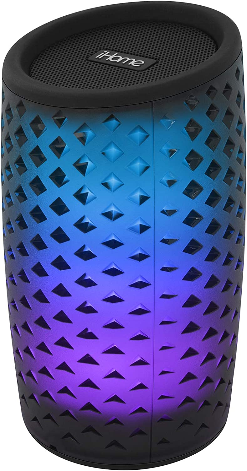 iHome iBT78 Smart Bluetooth Speaker - with Alexa Built-in and Color Changing LED Lights - Perfect Portable Audio Device for Parties, Outdoors, and Other Events