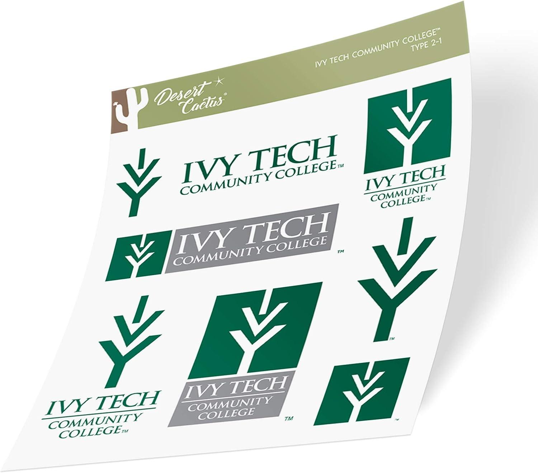 Ivy Tech Community College NCAA Sticker Vinyl Decal Laptop Water Bottle Car Scrapbook Type 2 Sheet