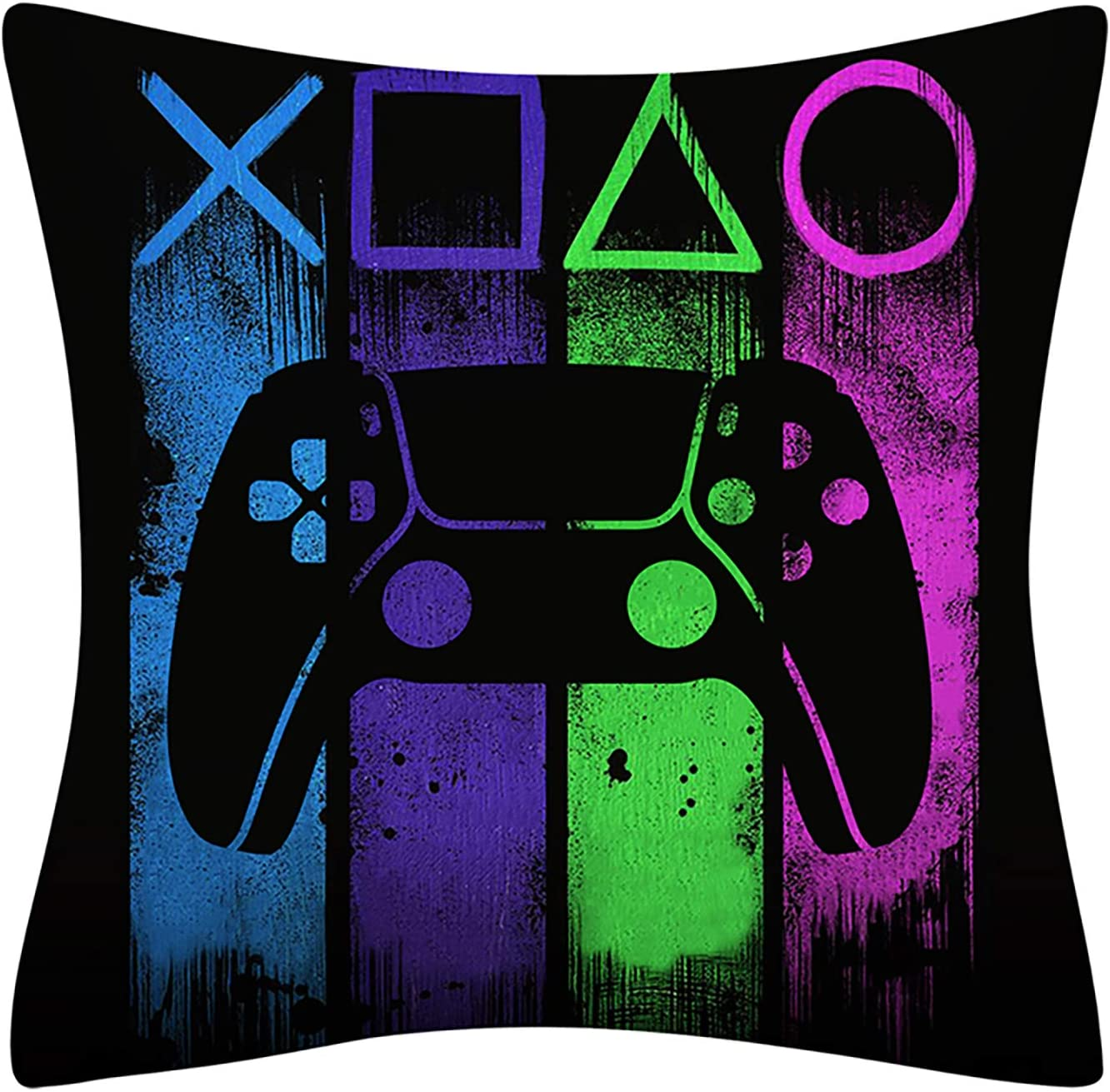 LAKYTION Gamer Pillow Case Game Controller Decorative Square Throw Pillow Cover Cushion Cover for Home Sofa Bedroom Office Car 18