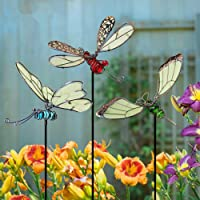 Backyard and Outdoor Spring Summer Decorations Decorative Metal Garden Stake Butterfly with Flower Plaque for Patio TERESAS COLLECTIONS Solar Lights Garden Ornament