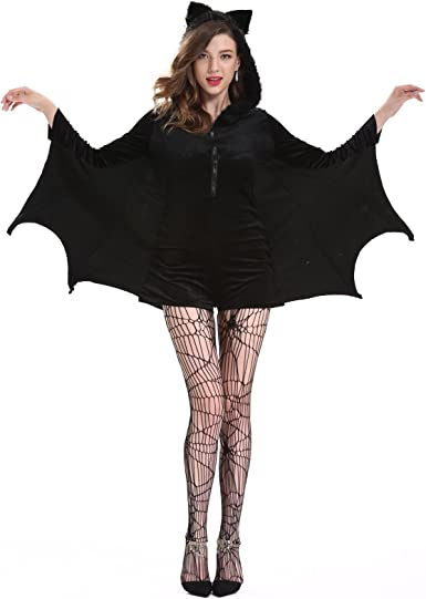 Kids Halloween Gothic Cozy Bat Costume