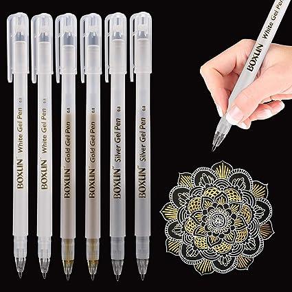 Penne a inchiostro Gel colore argento//oro