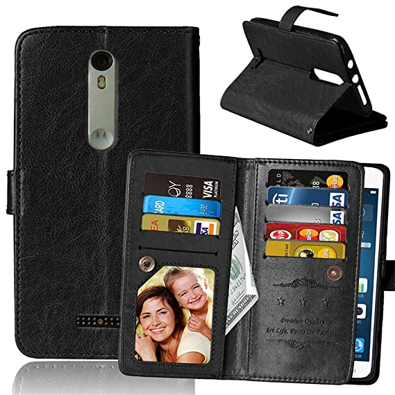 Moto X3/X Force/Droid Turbo 2 Case, Love Sound [Wallet Stand