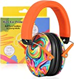 PROHEAR 032 Kids Ear Protection Safety Ear Muffs, NRR 25dB Adjustable Children Noise Canceling Hearing Protector, Perfect for Sensitive Ears, Monster Trucks, Fireworks - Lollipop Pattern